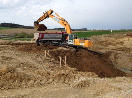 A94 Erdarbeiten im Bereich Brückenbau