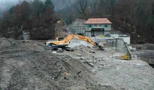 Wasserkraftwerk in Kinding bei Bad Reichenhall